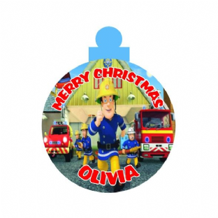 Fireman Sam Acrylic Christmas Ornament Decoration